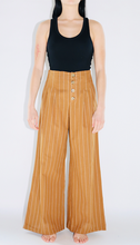 Load image into Gallery viewer, Pinstripe Wide Leg Pant In Camel
