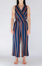 Load image into Gallery viewer, Classic Multi Stripe Woven Jumpsuit