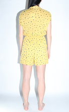 Load image into Gallery viewer, Lily Pad Print Woven Romper In Mustard
