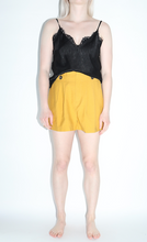 Load image into Gallery viewer, Flared Shorts w/Button Detail In Mustard