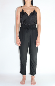Ellison Drawstring Woven Pants In Black