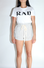 Load image into Gallery viewer, Comfy Linen Tie Shorts in Off White