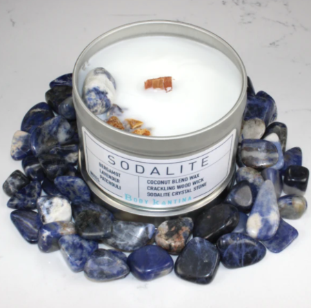 Body Kantina Candle Sodalite Intention Crystal Candle