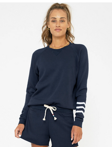 Sol Angeles Essential Coastal Waves Pullover in Indigo