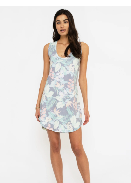 Sol Angeles Tank Dress in Tropical Noir
