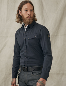 Belstaff Pitch Twill Shirt in Deep Navy