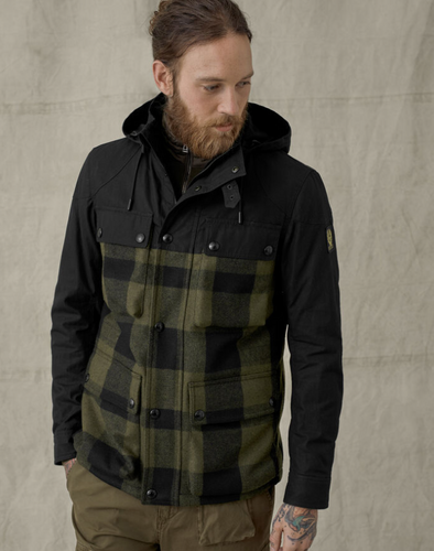 Belstaff Hike Jacket in Salvia/Black