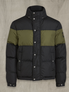 Belstaff Dome Jacket in Black/Sage Green