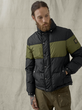Load image into Gallery viewer, Belstaff Dome Jacket in Black/Sage Green