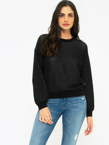 Sol Angeles Roma Billow Pullover in Black