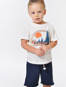Sol Angeles Kids Montana Crew in Dirty White