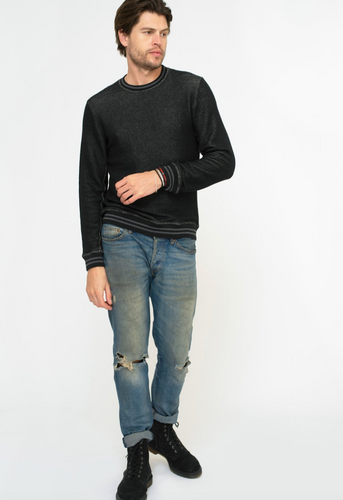 Sol Angeles Roma Pullover in Black