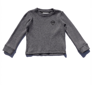 Sol Angeles Kids Twilight Thermal L/S Crew in Black