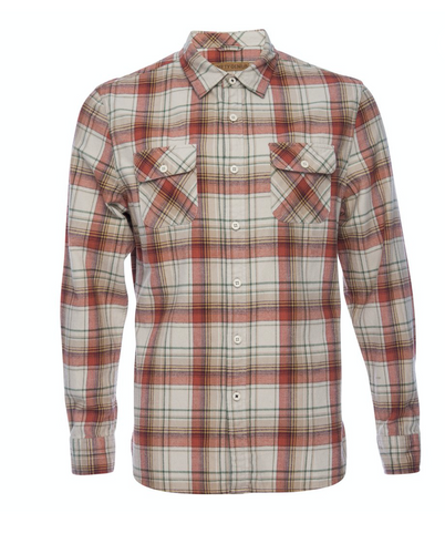 Nifty Genius Truman Outdoor Shirt in Rust Plaid