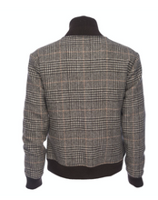 Load image into Gallery viewer, Nifty Genius Varsity Jacket in Wool Blend Glen Plaid