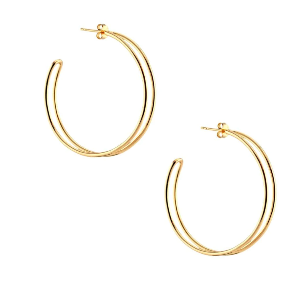 Kris Nations Double Hoop Earrings - Large