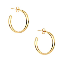 Load image into Gallery viewer, Kris Nations Double Hoop Earrings - Small