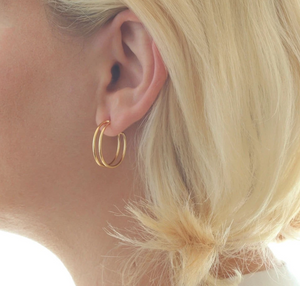 Kris Nations Double Hoop Earrings - Small