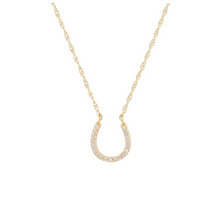 Load image into Gallery viewer, Kris Nations Horseshoe Pave Charm Necklace