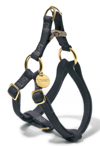 Found My Animal Black Cotton Cat + Dog Harness