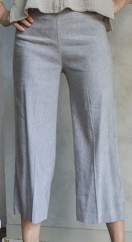 Avenue Montaigne Alex Linen Pant in Mushroom