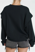 Load image into Gallery viewer, Pistola Lenora Flange Sweatshirt in Black