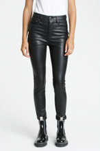 Load image into Gallery viewer, Pistola Aline Vegan Leather High Rise Skinny in Onyx