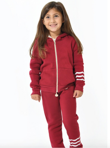 Sol Angeles Kids Waves Zip Hoodie in Cherry