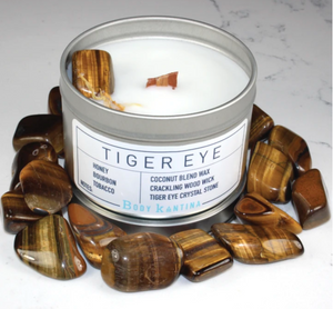 Body Kantina Tiger's Eye Intention Crystal Candle