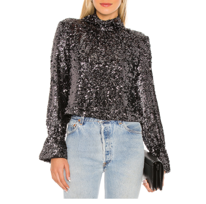 Free People Moonstruck Top in Black