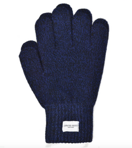 Curated Basics Navy Marled Wool Glove