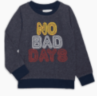 Sol Angeles Kids No Bad Days Pullover in Indigo
