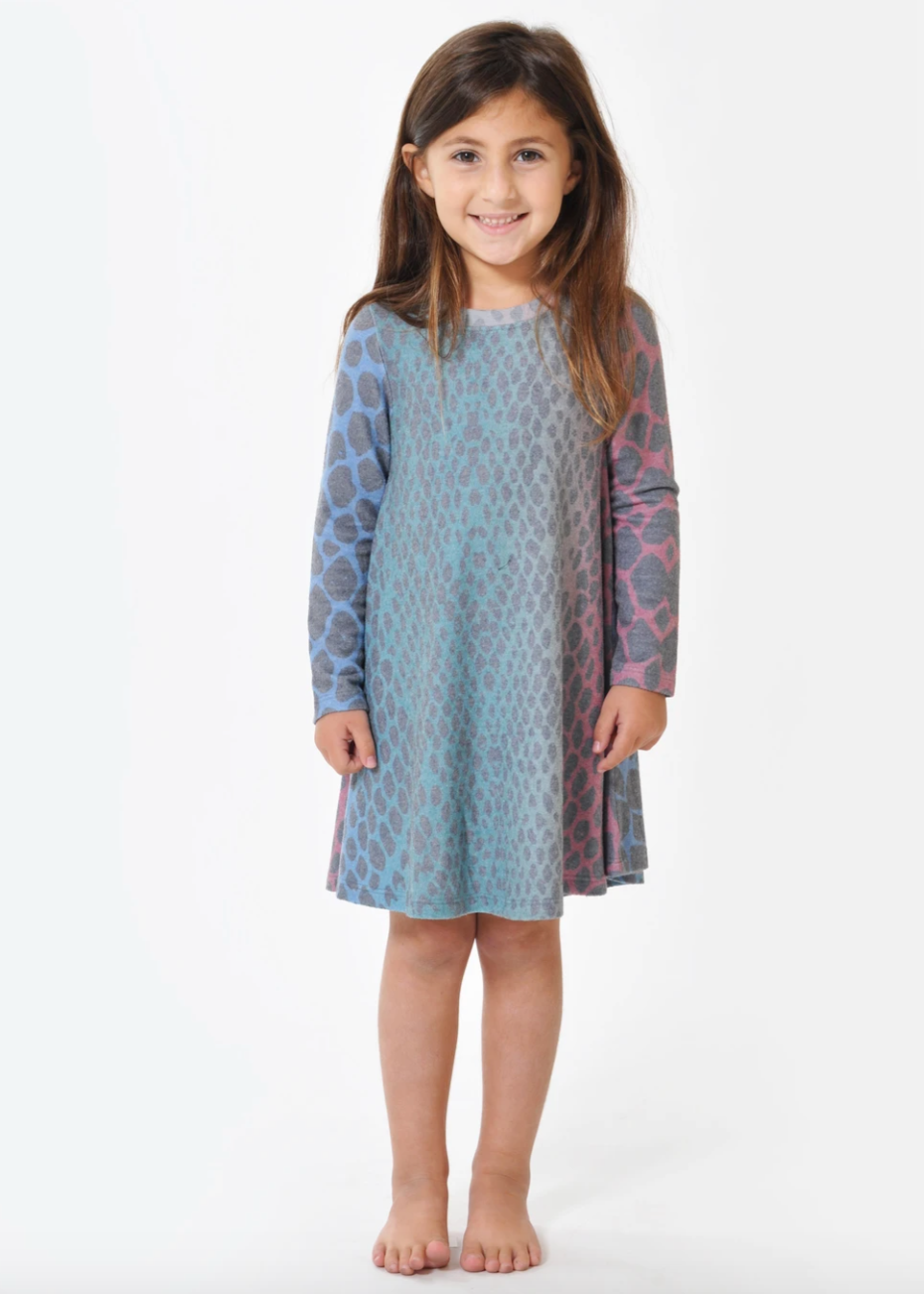 Sol Angeles Kids Rainbow Python Hacci Dress