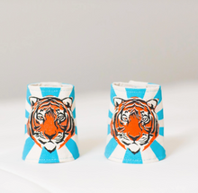 Load image into Gallery viewer, Lovelane Tiger Cuffs in Blue