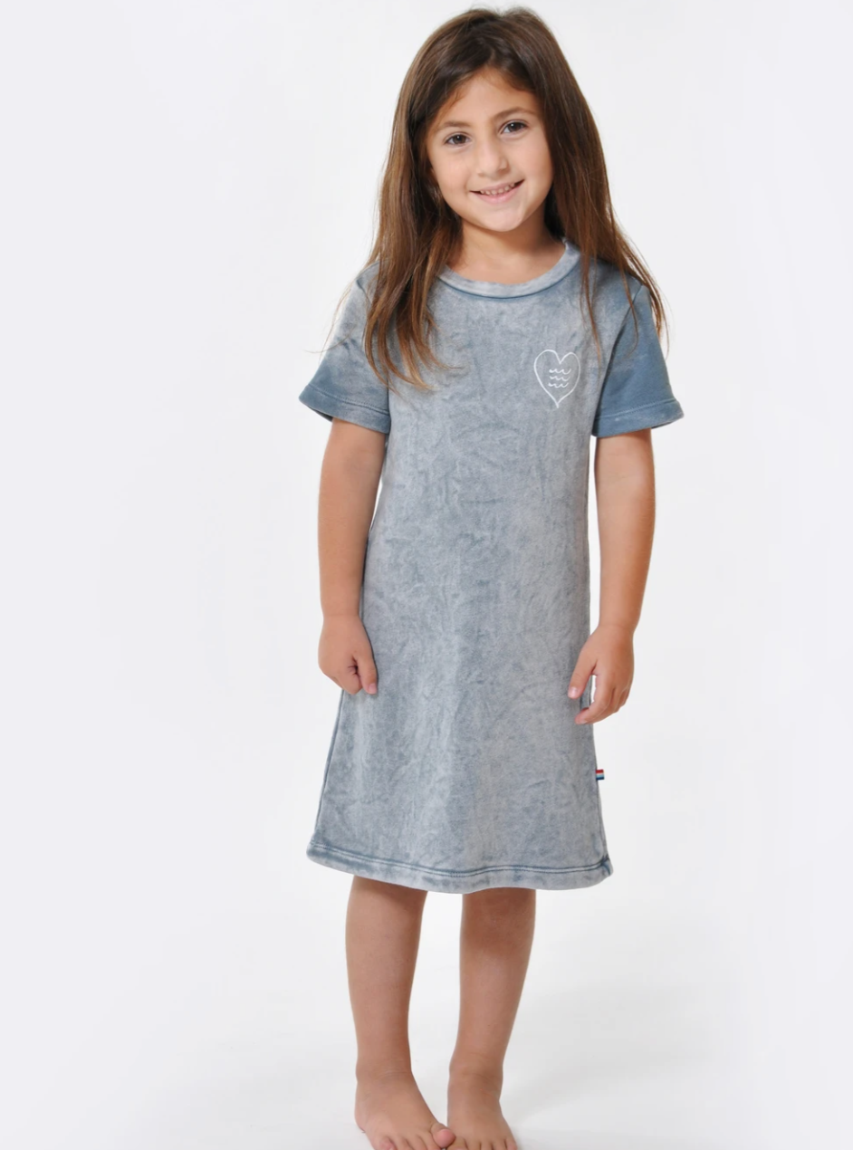 Sol Angeles Kids Baja S/S Dress in Cloud
