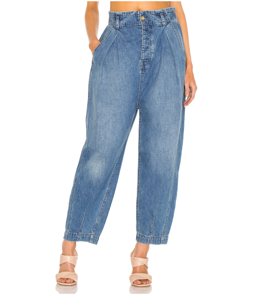 Free People Sawyer Pull on BF Jean in Spruce Blue