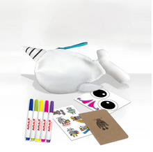Load image into Gallery viewer, Artsbot Make Your Own Narwhal Wristlet