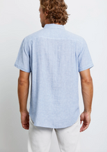 Load image into Gallery viewer, Rails Carson in Washed Blue w/White