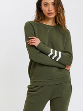 Load image into Gallery viewer, Sol Angeles Waves Essential Coastal Pullover in Olive