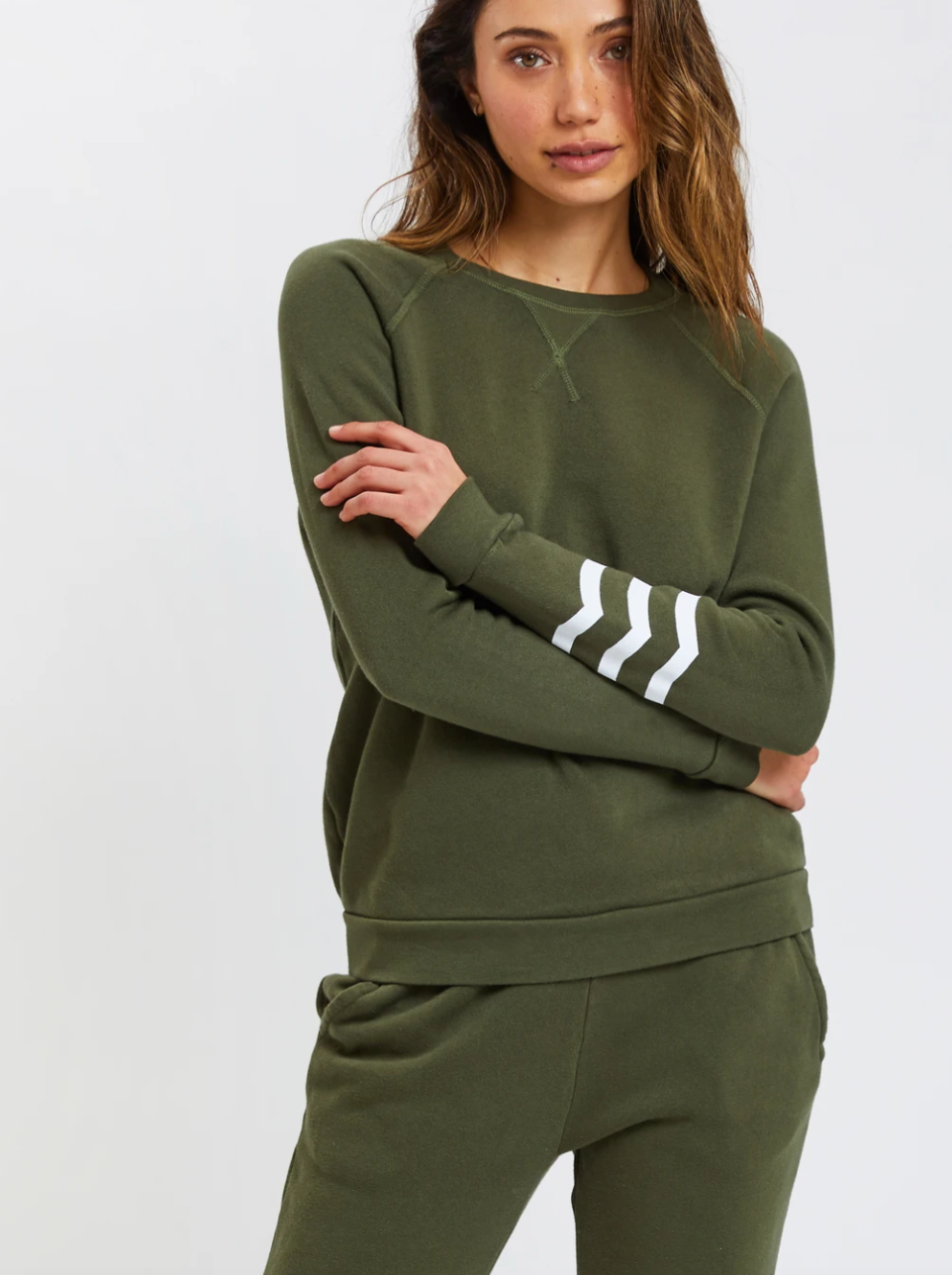 Sol Angeles Waves Essential Coastal Pullover in Olive