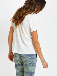 Sol Angeles Camo Heart V-Neck Tee