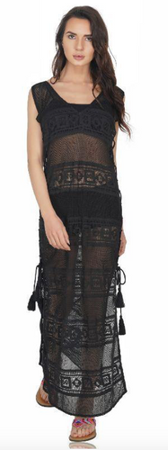 America & Beyond Jade Lace Maxi-Cover Up