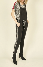 Load image into Gallery viewer, Vintage Havana Leopard Overall Jumpsuit in Black
