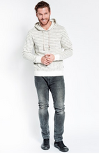 Load image into Gallery viewer, Sol Angeles Textured Stripe Hoodie In Natural