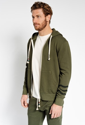 Sol Angeles Sol Essential Hoodie in Military