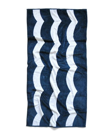 Sol Angeles Waves Beach Towel In Indigo