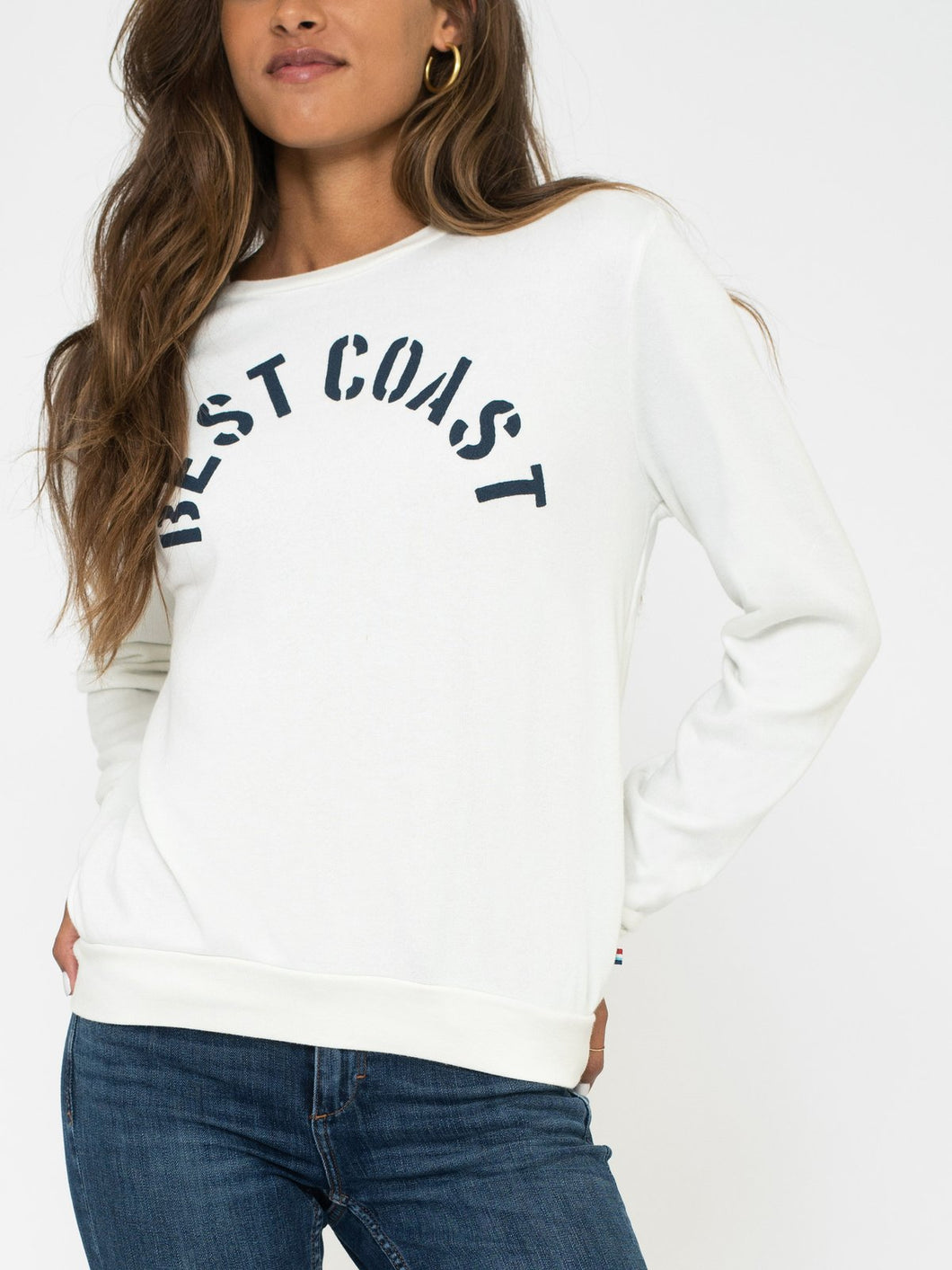 Sol Angeles Best Coast Pullover in White
