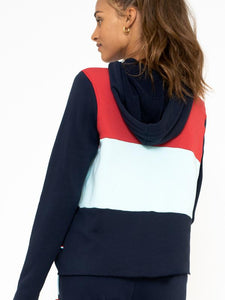 Sol Angeles Color Block Hoodie in Multi