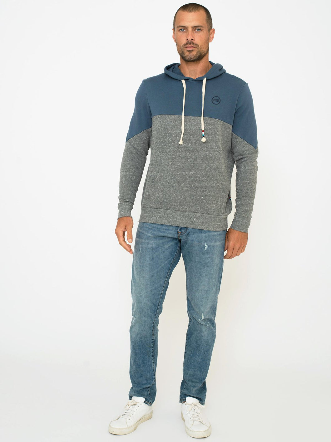 Sol Angeles Colorblock Hoodie in Jasper