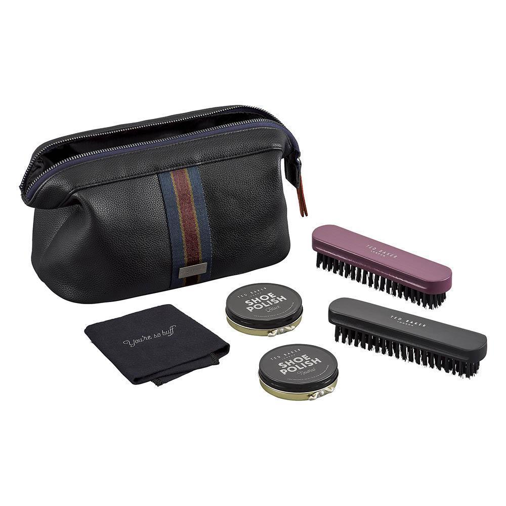 Wild + Wolf Ted Baker Shoe Shine Kit w/Carry Bag